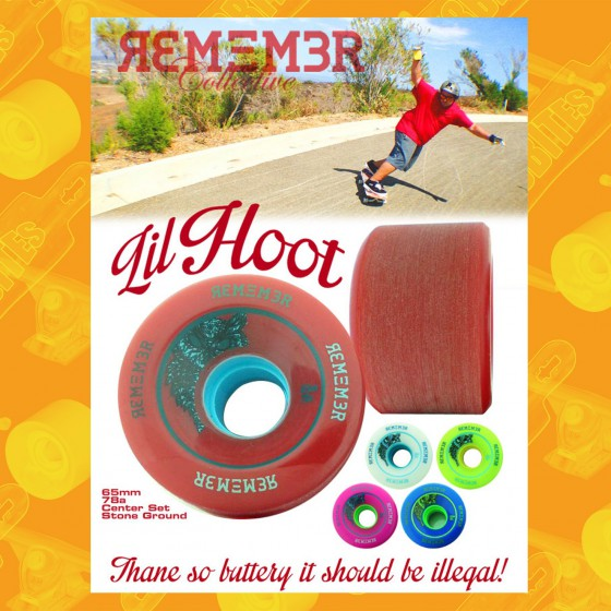 Remember Lil Hoot 65mm 78a Ruote Longboard Slide