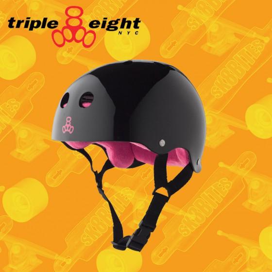Triple Eight Brainsaver Black Gloss
