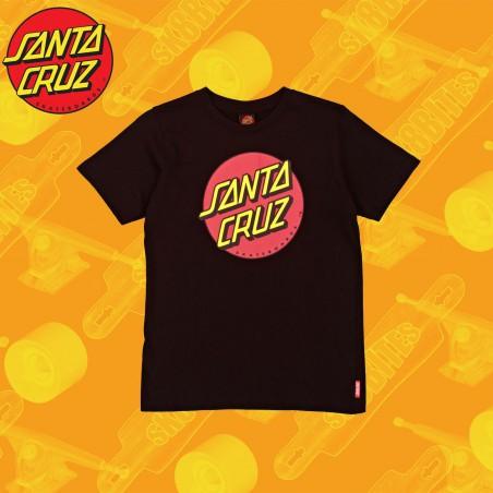 Santa Cruz Classic Dot T-Shirt Black/Federal Blue maglietta Skateboard Unisex