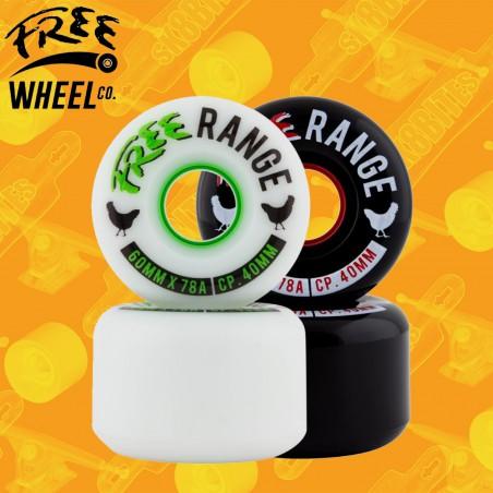 Free Wheels Free Range 60mm Ruote Longboard