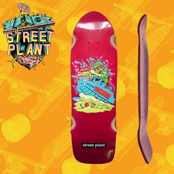 Street Plant Bayshore Bomber Bordeaux tavola Skateboard Oldschool