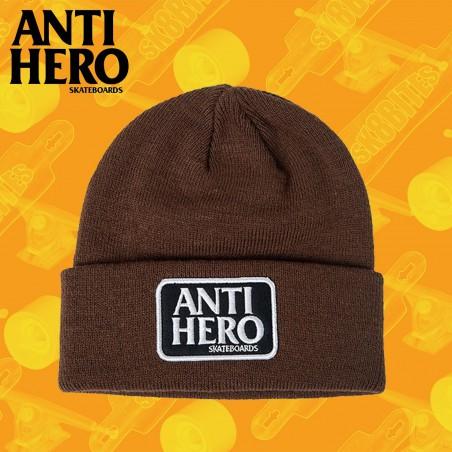 ANTI HERO RESERVE PATCH CUFF BROWN Cappellino Beanie Skateboard