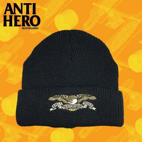 ANTI HERO EAGLE CUFF BACK BLACK Cappellino Beanie Skateboard Unisex