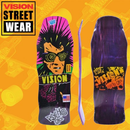 Vision Psycho Stick Modern Concave Stain Veneer Purple Tavola Skateboard Oldschool