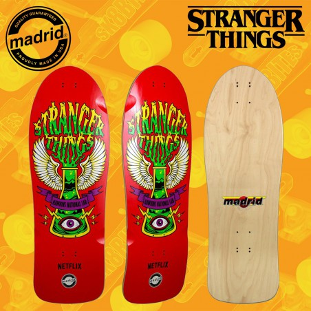 "Madrid x Stranger Things Hawkins Lab 10,25"" Tavola Skateboard Oldschool"