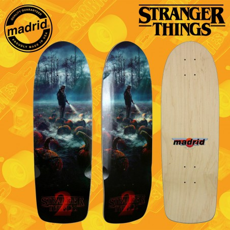"Madrid x Stranger Things ST2 Pumpkin 9,5"" Tavola Skateboard Street Oldschool"
