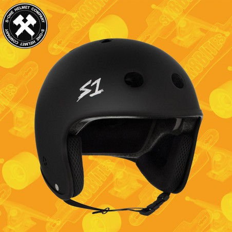 S-One Retro Lifer Helmet Black Matte Casco Longboard Skateboard