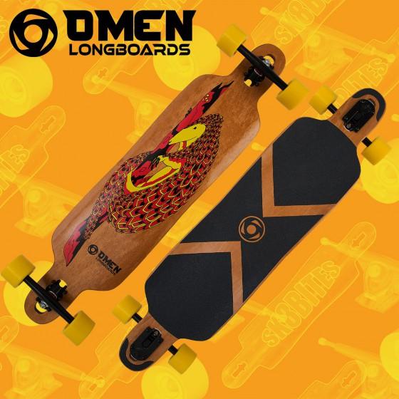 "Omen 41"" Chinchilla Tavola Longboard Slide Cruising"