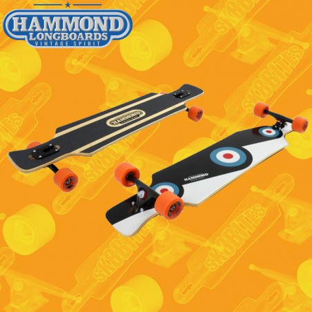 "Hammond Ding-Dong Dropthrough 39"" Tavola Longboard Cruising Completa"