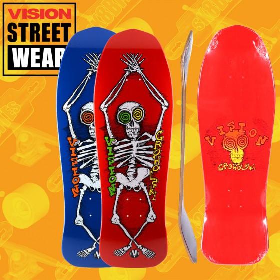"Vision Groholski Skeleton 31"" Tavola Skateboard Oldschool"