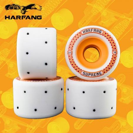 Harfang Supreme Roman Candles 65mm Orange Ruote Longboard Slide Freeride