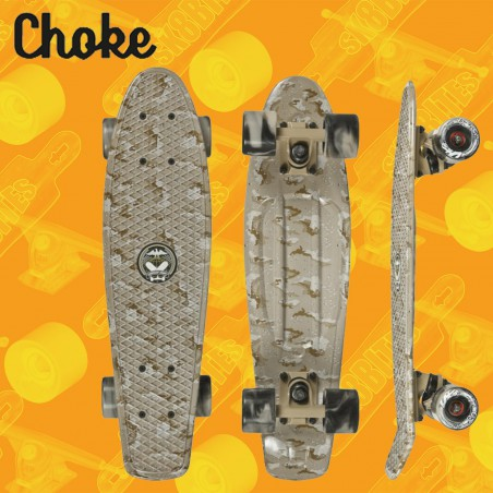 "Choke Desert Camo 22,5"" Tavola Completa Cruiser Carving"