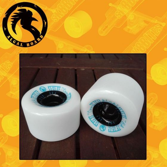 Algal Slide New 70mm 78a White Ruote Longboard Slide Freeride