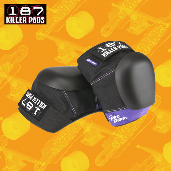 Pro Derby Knee Pads Black/Purple