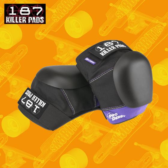 Pro Derby Knee Pads Black/Purple