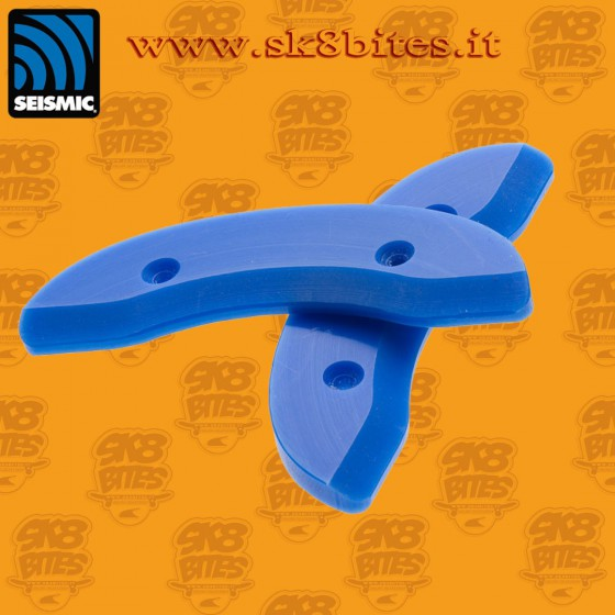 Seismic Skid Plate 1 Piece Blue Oldschool Skateboard Street Cruising Deck