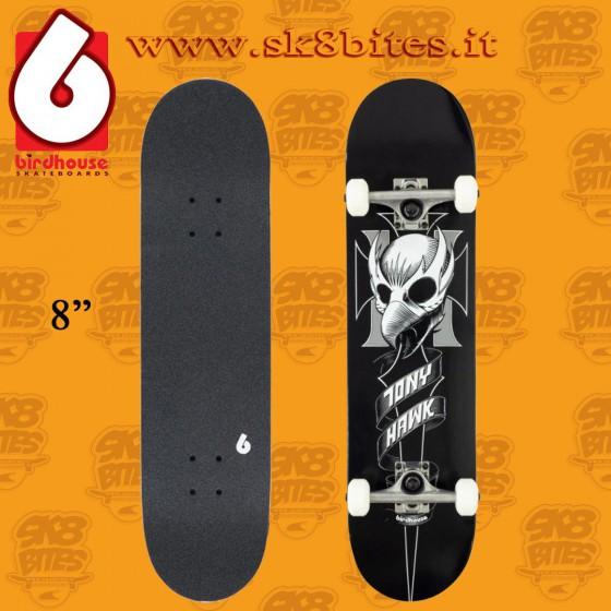 "Birdhouse Crest Black 8"" Complete Skateboard Street Pool Deck"