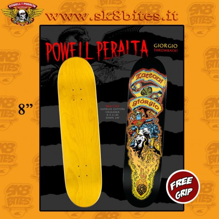 "Powell Peralta Crusader Giorgio Zattoni 8"" Skateboard Street Pool Deck"