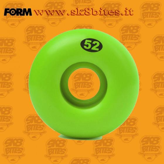 Form Solid Wheels 52mm 99a Green Skateboard Street Pool Wheels