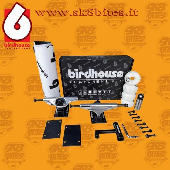 "Birdhouse Component Kit - Silver/Black 5.25"" Skateboard"