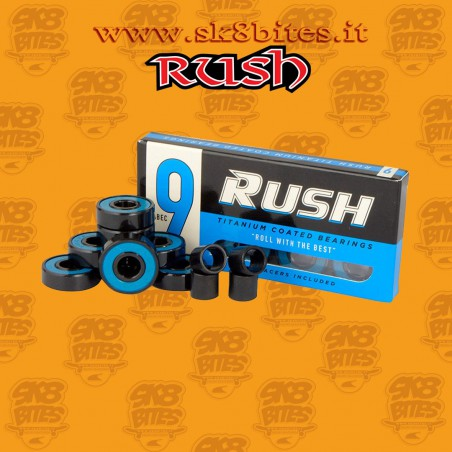 Rush bearings Abec 9 Titanium Coated Skateboard Street Pool Bearings