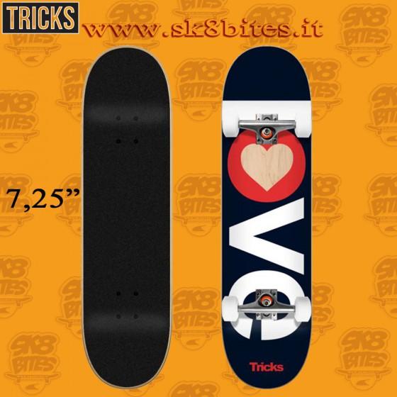 "Tricks Love 7,25"" Complete Street Skateboard Deck"