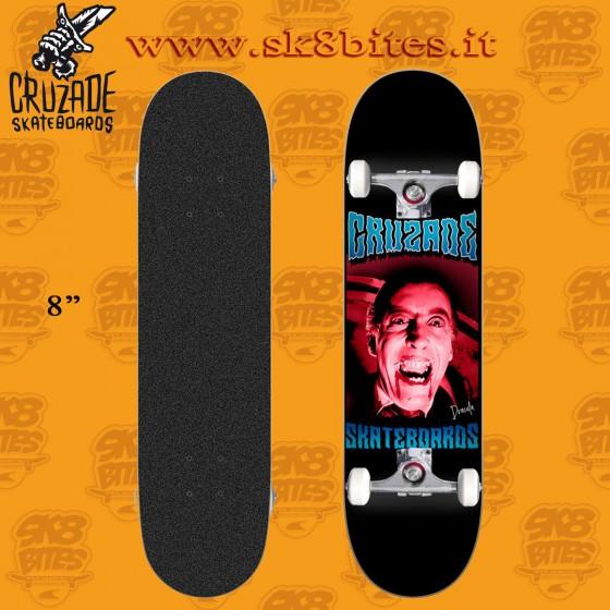 "Cruzade Skull Sun 8"" Complete Skateboard Street Pool Deck"