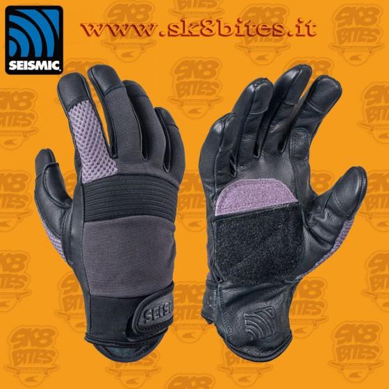Seismic Freeride Gloves Purple Longboard Freeride Downhill Slide Gloves