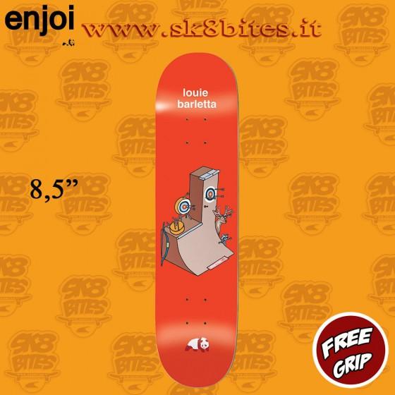"Enjoi Go For The Gold Louie Barletta 8.5"" R7  Skateboard Street Pool Deck"