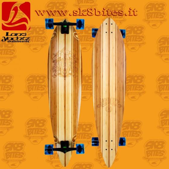 "Landyachtz Fiberglass V-Lam Pinner Etch 44"" Longboard Cruising Carving Deck"