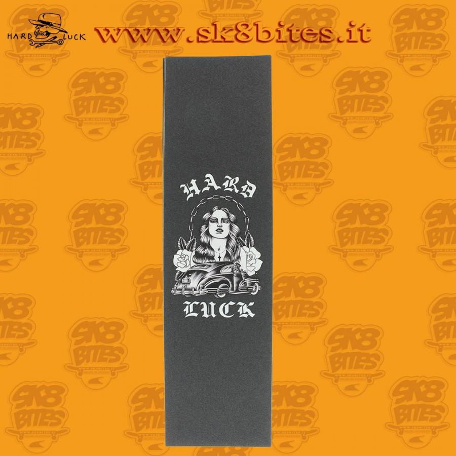 """Hard Luck MFG Rosas White / Black Griptape - 9"""" x 33"""" Skateboard Grip"""