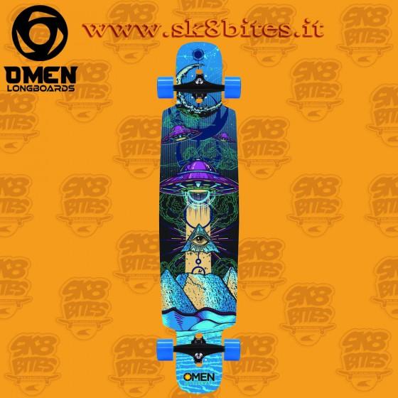 "Omen UFO Drop Through 41.5"" Longboard Cruising Carving Deck"
