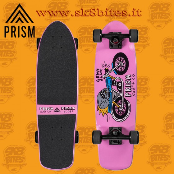 "Prism Skipper Pizza Boobs 27"" Complete Longboard Cruising Carving Deck"