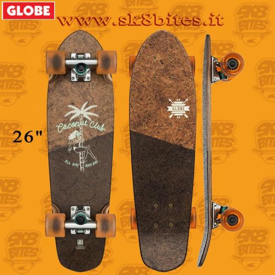 "Globe Blazer Coconut/Black 26"" Complete Longboard Cruising Carving Deck"