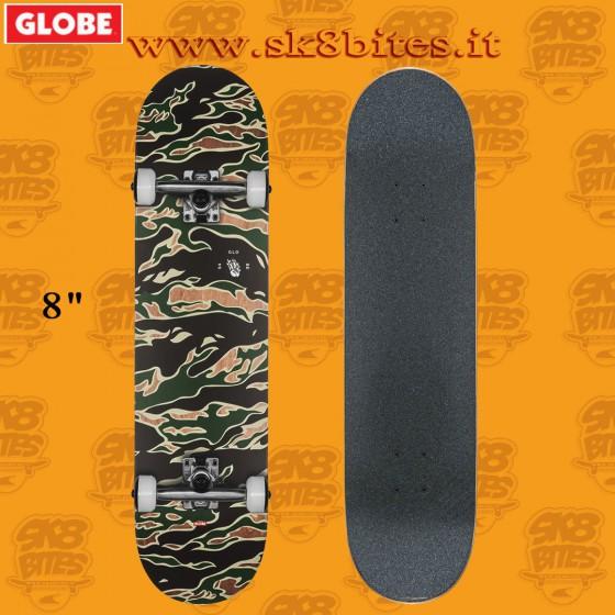 Globe G1 Full On Tiger Camo 8.0″ Complete Skateboard Street Pool Deck