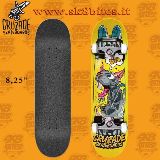 "Cruzade Clone 8.25"" Complete Skateboard Street Pool Deck"