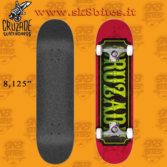 "Cruzade Stamp 8.125"" Complete Skateboard Street Pool Deck"