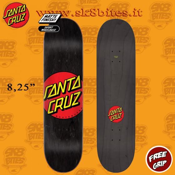 "Santa Cruz Classic Dot 8,25"" Skateboard Street Deck"
