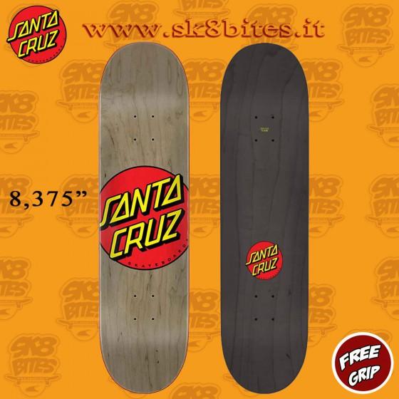 "Santa Cruz Classic Dot 8,375""  Skateboard Street Pool Deck"