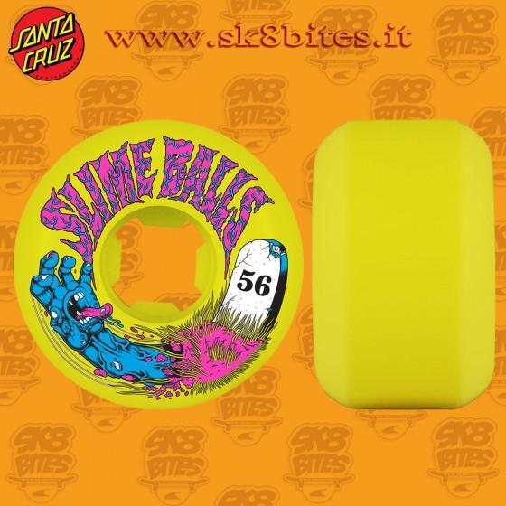 Santa Cruz Slime BallsGrave Hand Speed Balls 56 mm 99a  Skateboard Street Pool Cruising Wheels