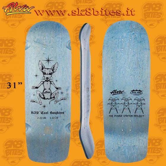 """Alva Stubbie Blue 10""""  Skateboard Oldschool Street Deck"""