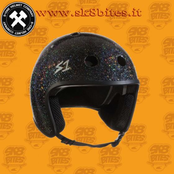 S-One Retro Lifer Helmet Black Glitter Longboard Skateboard
