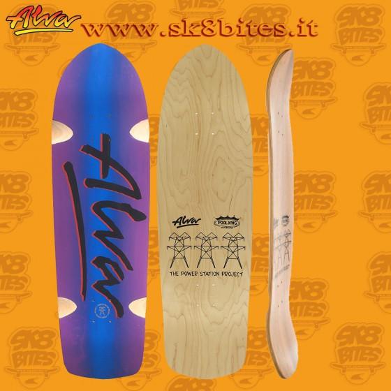 "Alva Millennium Blue Purple Fade 9,5""  Skateboard Oldschool Street Deck"