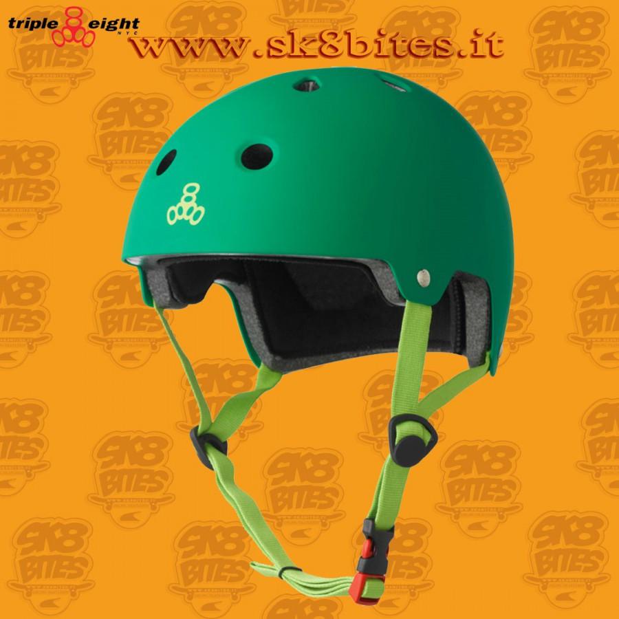 Triple Eight Brainsaver Dual Certified Kelly Green Skateboard Street Longboard Freeride Cruising Helmet