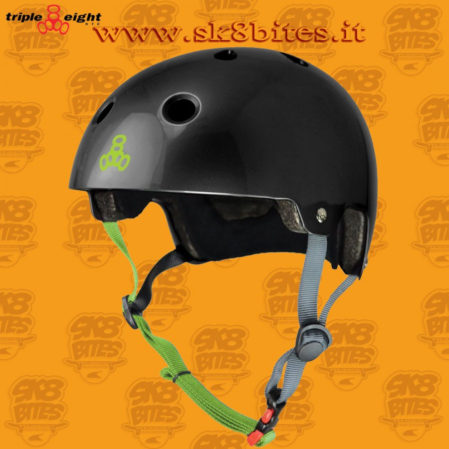 Triple Eight Brainsaver Dual Certified Gunmetal Skateboard Street Longboard Freeride Cruising Helmet