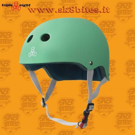 Triple Eight Certified Sweatsaver Green Skateboard Street Longboard Freeride Cruising Helmet