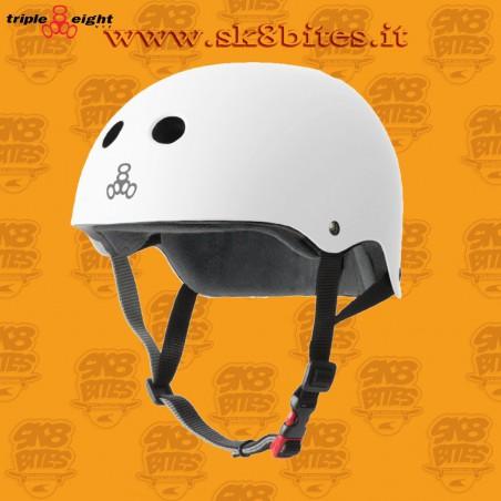 Triple Eight Certified Sweatsaver Black Skateboard Street Longboard Freeride Cruising Helmet
