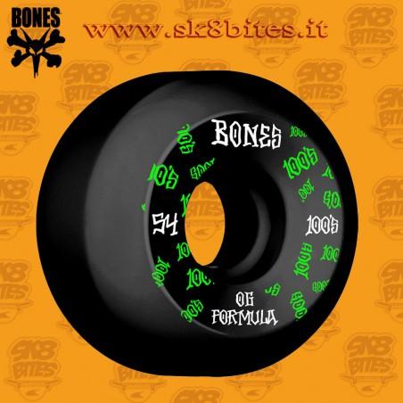 Bones 100's Og Formula Black V5  54mm Skateboard Street Pool Wheels