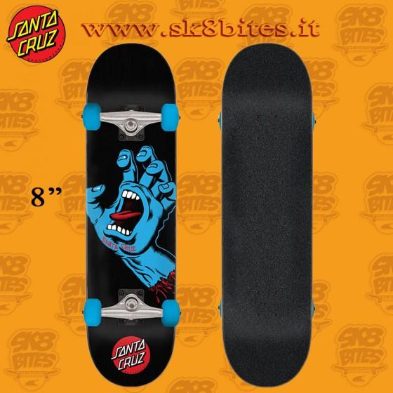 "Santa Cruz Screaming Hand Full 8"" Complete Skateboard Street Deck"