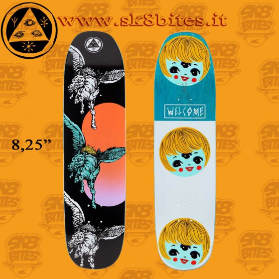 """Welcome Peggy On Son Of Moontrimmer 8,25"""" Skateboard Street Deck"""